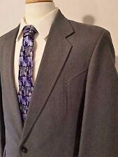 CIRCLE S Gray Western Rockabilly Suit Coat 42L & Pants W36 x L30 Excellent!