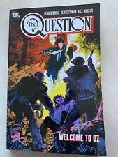 THE QUESTION Welcome To Oz TPB DC COMICS VERY RARE OOP GRAPHIC NOVEL HTF Vol 4