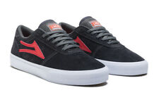 Lakai Skateboard Shoes Manchester Charcoal/Flame Suede Mens