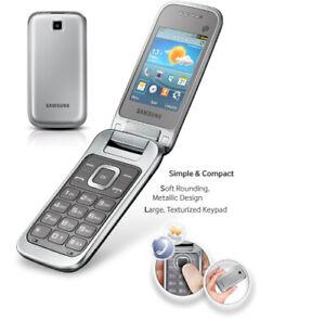 Samsung GT-C3595 (Unlocked ) Silver, Big Buttons Stylish Flip 3G Mobile Phone