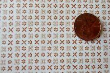 MINIATURE DOLLHOUSE mini graphics lydia gold cross stitch wallpaper 1:12