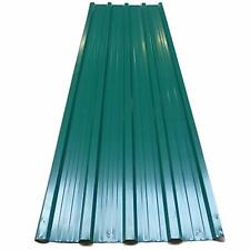 12X Green Corrugated Metal Roof Sheets Roofing Wall Cladding Pre Drilled Holes