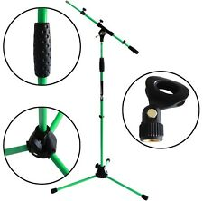 KEEPDRUM MS106 GR Grün Mikrofonständer Mikrofonstativ Galgen + Mikrofonklemme