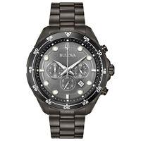 Bulova Men's Quartz Chronograph Rotating Bezel 44mm Watch and Box Set 98K104