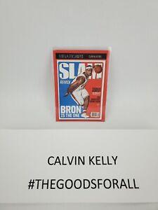 "LeBron James NBA Hoops 2020-2021 Slam Cover SSP #2 ""Bron is  the one."""
