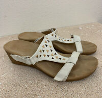 Vonic Maggie Orthotic Wedge Sandals Size 8