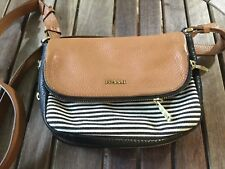 fossil crossbody leather purse shoulder handbag with wallet .