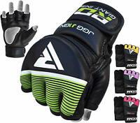 RDX MMA Grappling Handschuh Leder Fight Handschuhe Thai Boxen Gloves Kampfsport