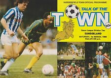 HUDDERSFIELD TOWN v SUNDERLAND 85-86 LEAGUE MATCH