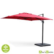Sombrilla jardin, Parasol excentrico cuadrado, Rojo, 300x300cm | Falgos