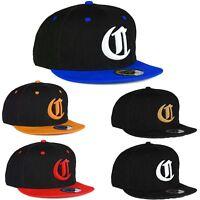 Men Women Snap back Cap Baseball Hat Unisex Gothic 3D Letter C Unisex LA