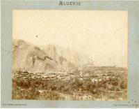 Geiser. Algérie, El Kantara Vintage albumen print.  Tirage albuminé  21x27