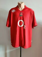 Shirt Canterbury Rugby Jersey England Union Away 2012/2013 Red Men's Size 2XL