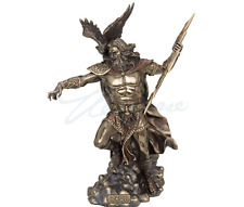 Large Zeus Holding Thunderbolt W/ Eagle Greek Mythology Statue Sculpture Figure