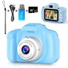 Digital Camera for Kids, Mini Blue Rechargeable Children Camera Shockproof 8.0MP