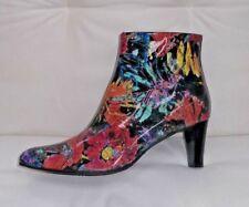 Azuree black/multi patent ankle boots, UK 8/EU 41 RRP £270, BNWB