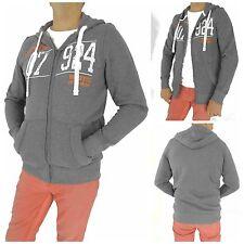 Markenlose Herren-Pullover mit Reißverschluss