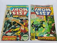 Marvel Comics Iron Fist #1,#6  First Issue Ungraded Very Worn