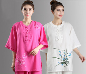 High Quality Women Cotton Kung Fu Clothing Chinese Embroidery Tai Chi