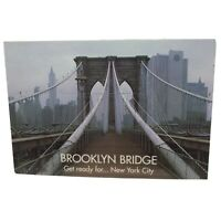 Vintage Postcard Brooklyn Bridge New York Advertisement Card
