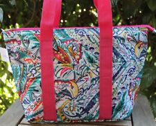 Multicolor Paisley Insulated Tote Bag Travel Beach Shopping Thermal Snack NEW