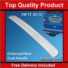 VW T5 TRANSPORTER LOGO CHROME REAR GRAB HANDLE COVER STAINLESS STEEL TAILGATE