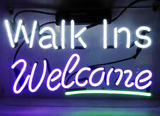 "14""x7""Walk Ins Welcome Neon Sign Light Store Restaurant Visual Art Customized"