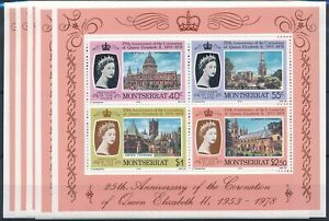 [P5553] Montserrat 1978 good sheets (5) very fine MNH