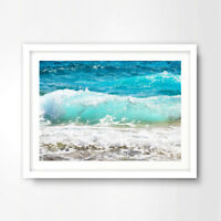OCEAN SHORE SEASCAPE ART PRINT POSTER Home Wall Decor A4 A3 A2 Picture Decor
