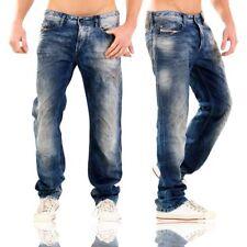 Stonewashed Herren-Straight-Cut-Jeans (en) Hosengröße 32 niedriger Bundhöhe