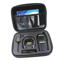 Walkie Talkie Radio Case Bag Carry Handbag Storage Box For Baofeng UV-82HP