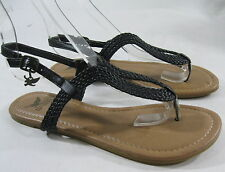 NUEVOS Para Dama Para Verano Negro Zapatos Mujer Sexy Sandalias Size 7.5