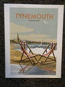 Retro Contemporary Travel Poster Print Tynemouth 14x11 New