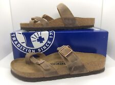 BIRKENSTOCK Womens Mayari Tabacco Brown Leather Sandal Shoes Sz 10 EU41 ZB6-90