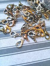 12 Lobster Clasps 12mm Assorted Lot Jewelry Making Supplies Findings Silver