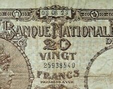 20 FRANCS 1923 Belgique P94 BELGIUM 20 Frank Belgïe #F3#