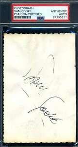 Sam Cooke PSA DNA Coa Signed BacK Of Photo Autograph