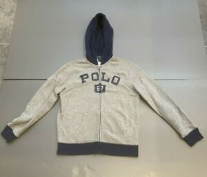 POLO Ralph Lauren Boys Grey/Blue Hoodie Age 11-12