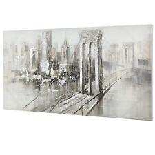 [art.work] Cuadro pared 70x140cm puente lienzo pintado a mano enmarcado acrílico