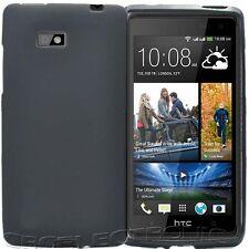 New Black TPU matte Gel skin Case cover For HTC Desire 600 dual sim