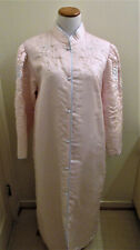 Sara Beth Bathrobe Silky Quilted Beaded Flowers Pink
