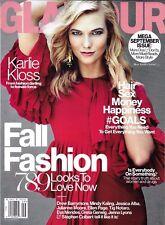 Glamour magazine Karlie Kloss Fall fashion Goals Hairstyles Skincare Money tips