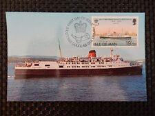 ISLE OF MAN MK 1982 SHIPS SCHIFFE MAXIMUMKARTE CARTE MAXIMUM CARD MC CM a7537