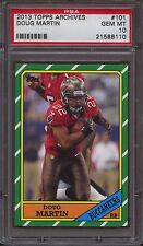 2013 TOPPS ARCHIVES 101 DOUG MARTIN RED JERSEY PSA 10 Pop 2