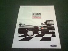 1987 Ford Fiesta Bono 950 edición especial-Reino Unido Folleto De Menta FA811