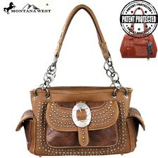Montana West Handbag Concealed and Carry Western Bag Purse Brown