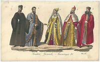 1833 NOBILE SENATORE DOGARESSA DOGE CAVALIERE DEL DOGE Ferrario acquaf. Venezia
