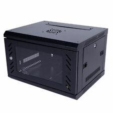 US 6U Wall Mount Network Server Data Cabinet Enclosure Rack +Glass Door Lock Fan