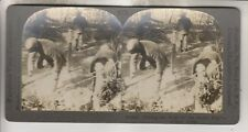 WWI KEYSTONE STEREOVIEW - SETTING THE STAGE FOR THE DEVIL'S PLAY FRENCH FRONT
