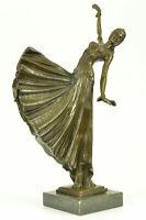 Bronze Statue Dancer by Chiparus Lost Wax Bronze Masterpiece Sculpture Figurine